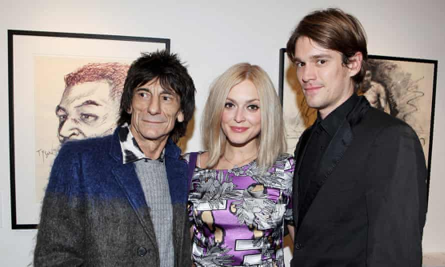 Fearne Cotton with her husband Jesse Wood and father-in-law Ronnie
