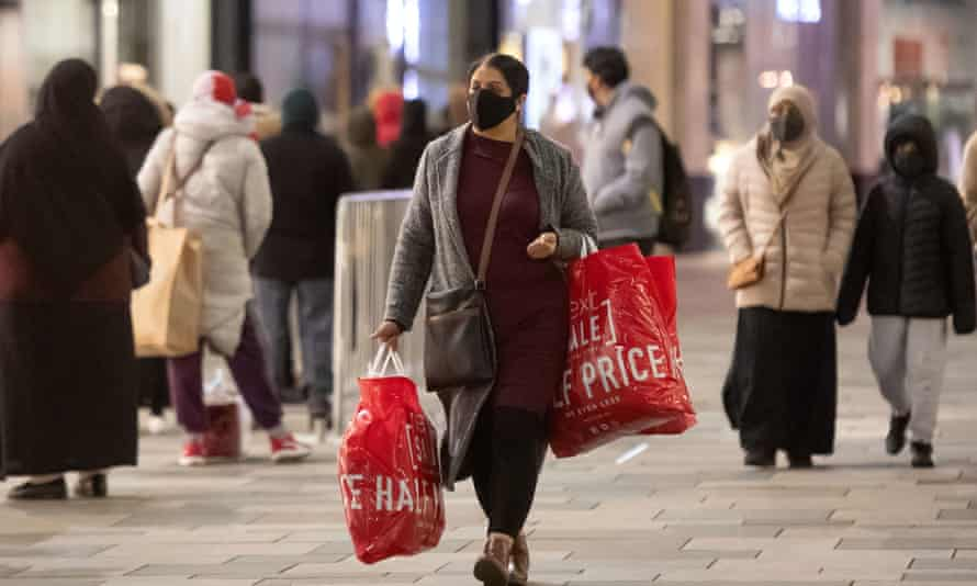 Boxing Day shoppers in Leicester