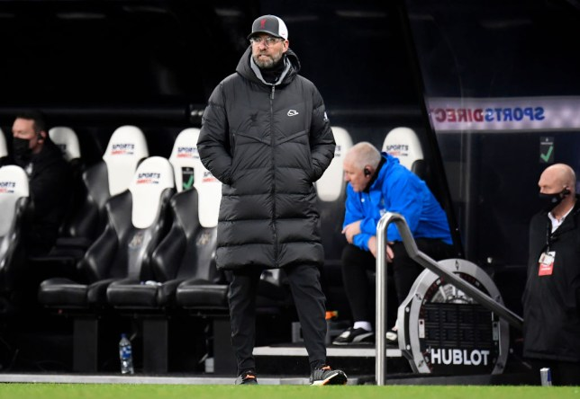 Jurgen Klopp, Manager of Liverpool looks on during the Premier League match between Newcastle United and Liverpool at St. James' Park on December 30, 2020 in Newcastle upon Tyne, England. The match will be played without fans, behind closed doors as a Covid-19 precaution.