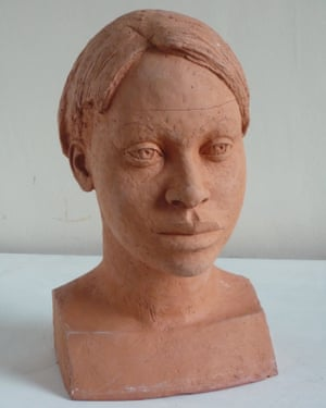 Terracotta head of Layo by Ken Hughes, 2009