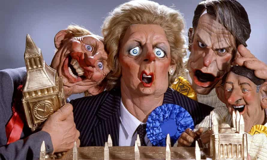 Spitting Image with Margaret Thatcher, centre