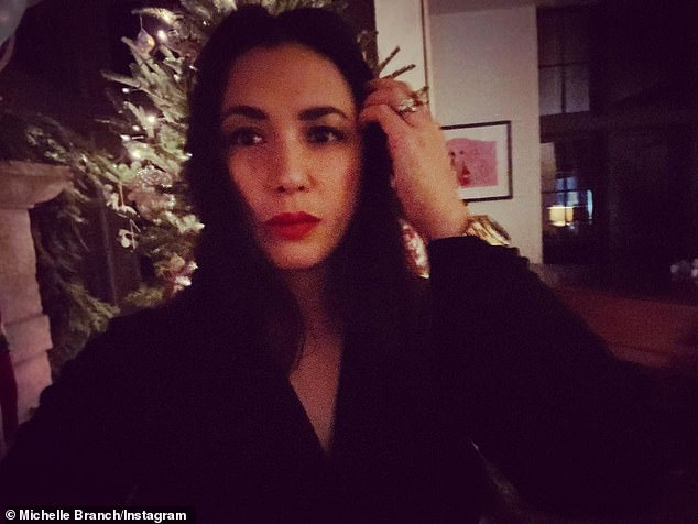 Sad: Michelle Branch revealed she suffered a miscarriage on Christmas Day