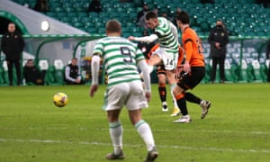 David Turnbull hits Celtic's second against Dundee United.