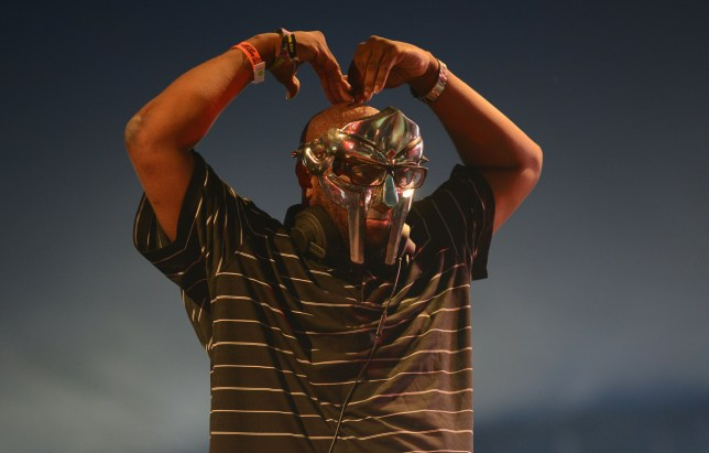 MF Doom performing on stage