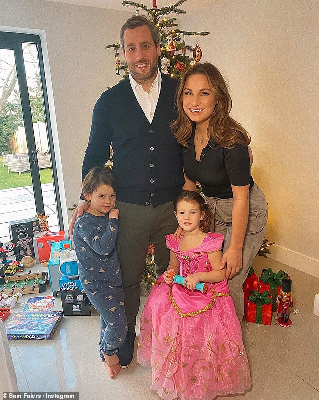 Merry Christmas: Sam Faiers got into the festive spirit this weekend as she gave fans a glimpse of her Christmas and Boxing Days with her family