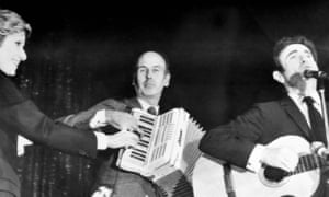 Valéry Giscard d'Estaing playing the accordion on national television in 1971 when he was economics minister.