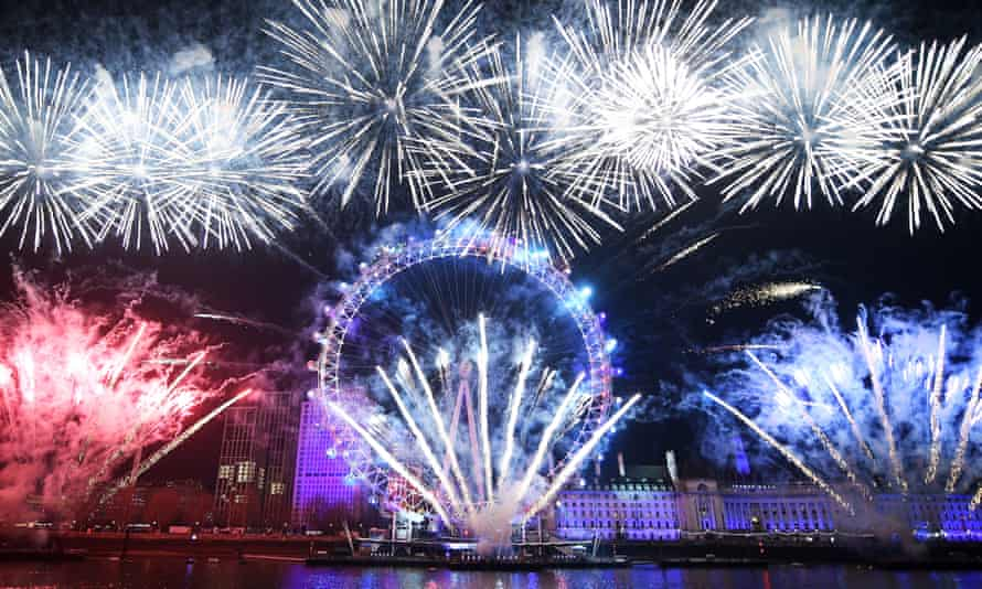 New Year's Eve celebrations in London last year.
