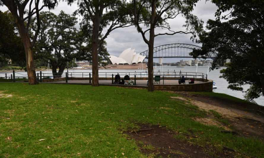 An empty Sydney Harbour foreshore. Sydneysiders were asked to stay home and watch the fireworks on television this year