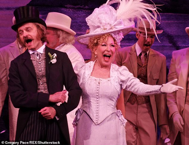 He worked with big names: David Hyde Pierce and Bette Midler in Hello Dolly'on Broadway in June 2017