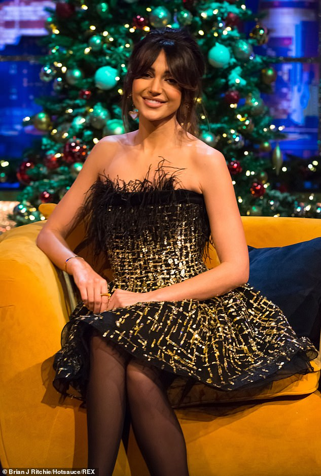 Feeling festive:The actress also discussed her low-key Christmas plans with husband Mark Wright in the episode
