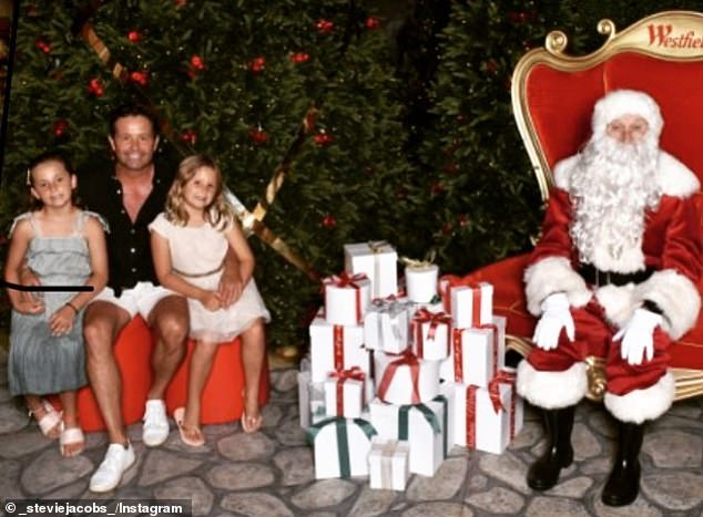Cute announcement! Taking to Instagram on Sunday, Steve revealed his return to Channel Nine would not be permanent. He accompanied this with a picture of himself posing with his daughters Isabella, eight, Francesca, seven, and a socially-distanced Santa Claus