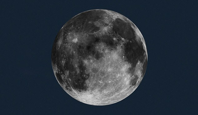 Pictured is an image from NASA showing how the moon will look on the evening of December 29