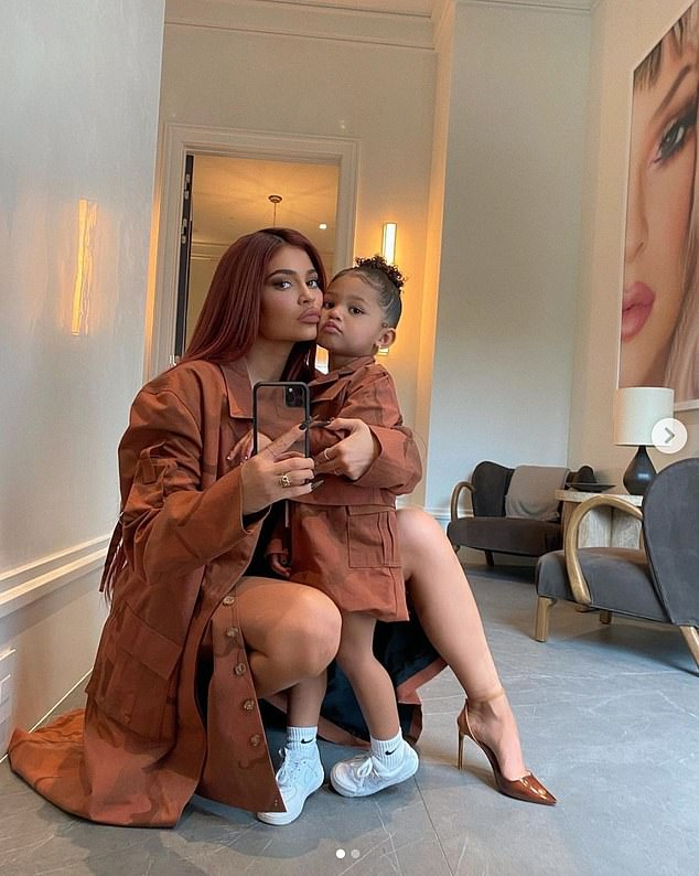 Princess Stormi:Kylie's baby daddy Travis Scott surprised their two-year-old daughter Stormi with her very own Cinderella-style carriage on Christmas morning; Kylie and Stormi pictured on December 8