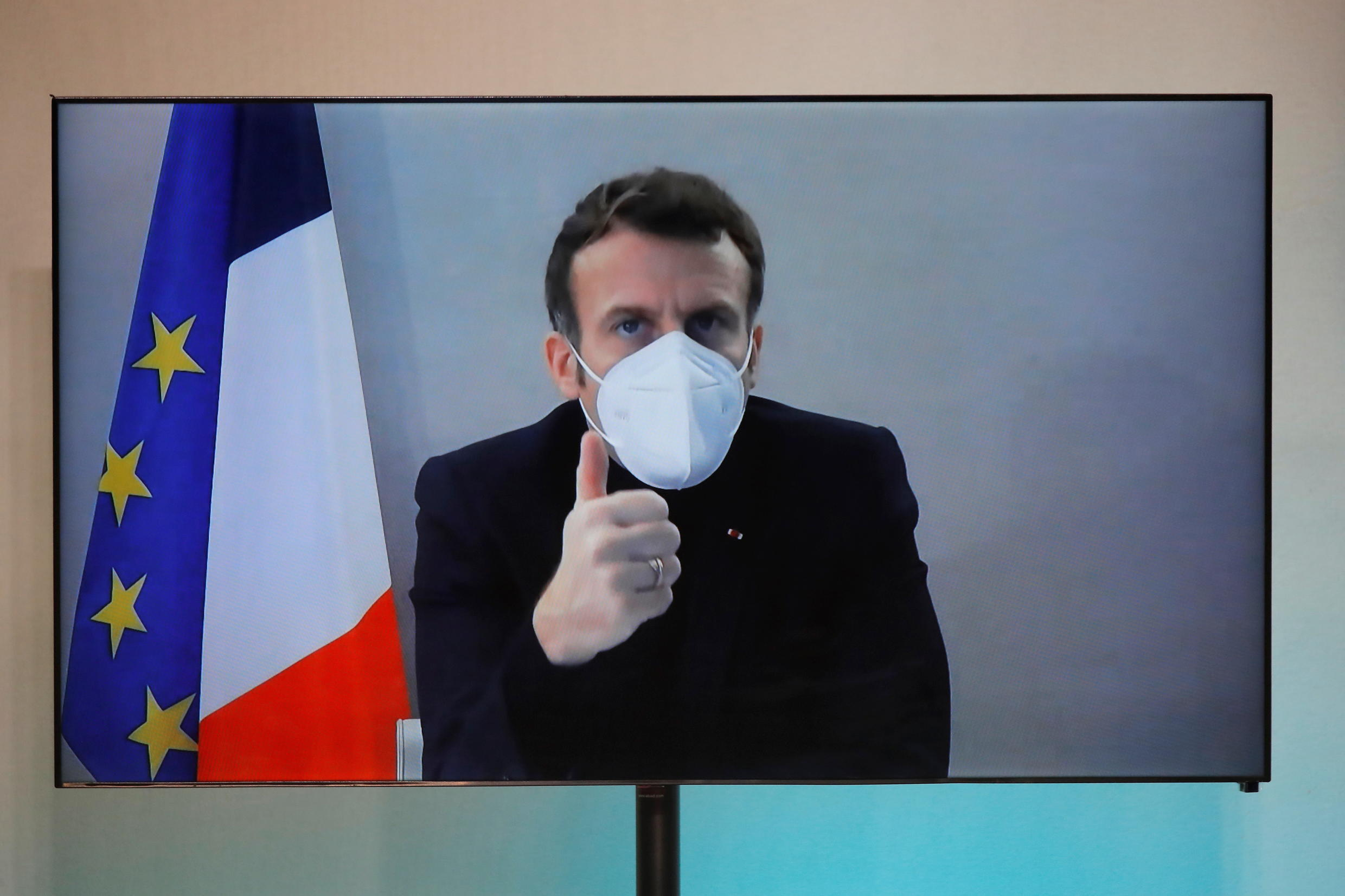 French President Macron tested positive for the virus in late December and self-isolated for seven days.