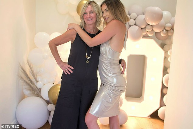 Home is where the heart is: Ferne moved in with her mother (pictured) during the first nationwide lockdown, but has since returned to her Essex property with her tiny tot
