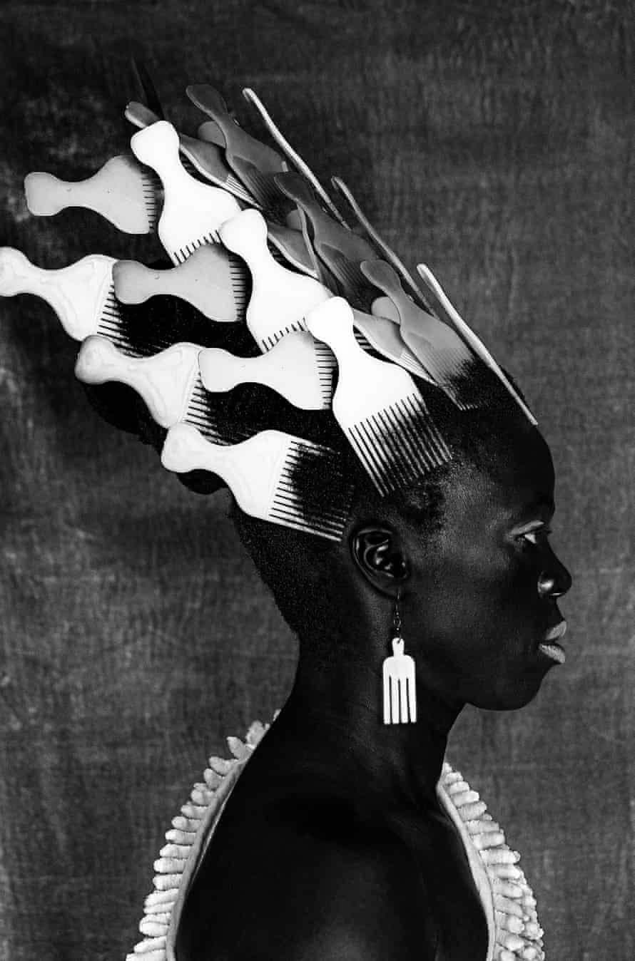 Qiniso, The Sails, Durban, 2019, a self-portrait by Zanele Muholi, at Tate Modern.