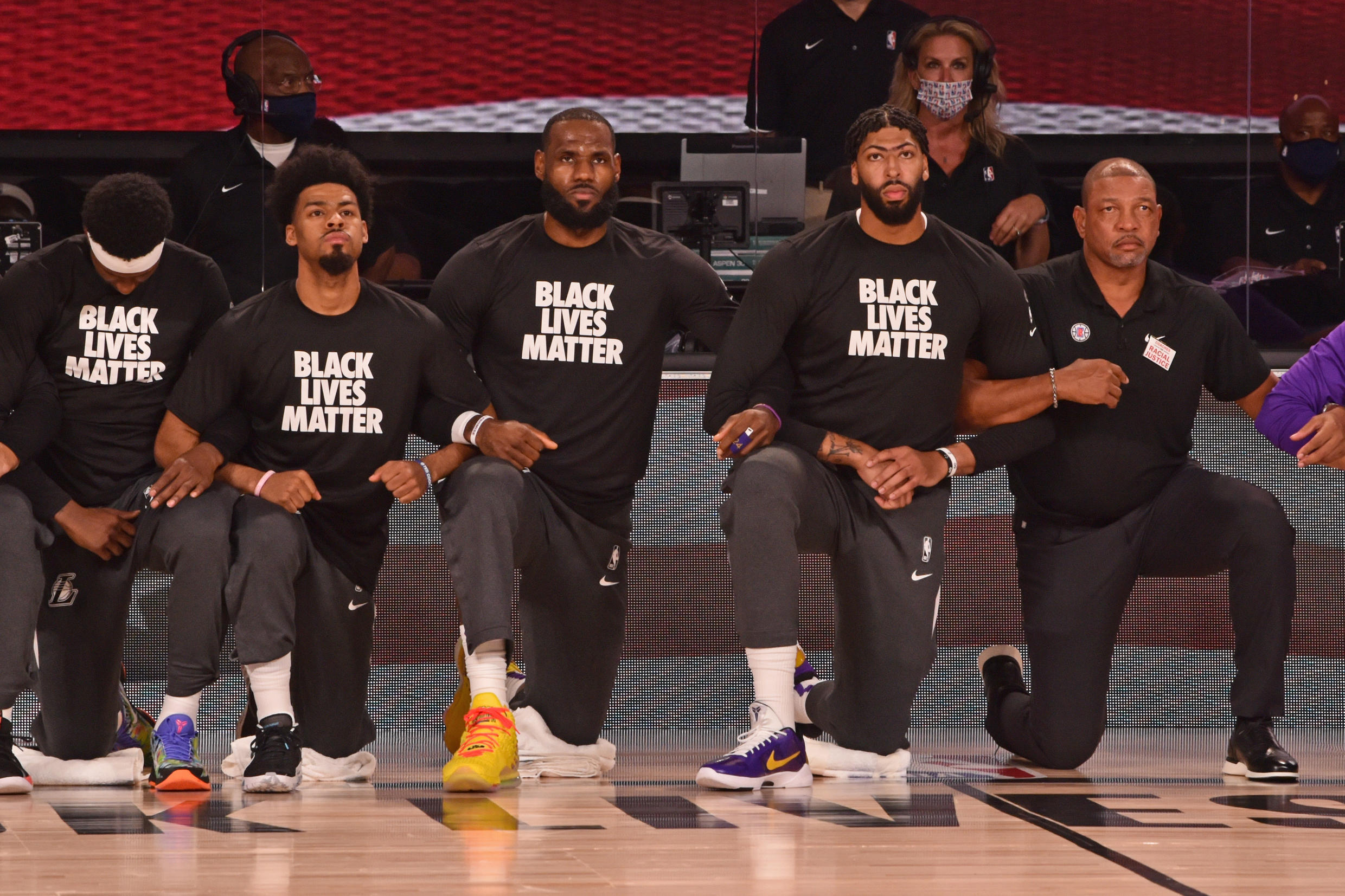 NBA players agreed to enter the Bubble on condition that they could use it as a platform to protest against racial injustice.