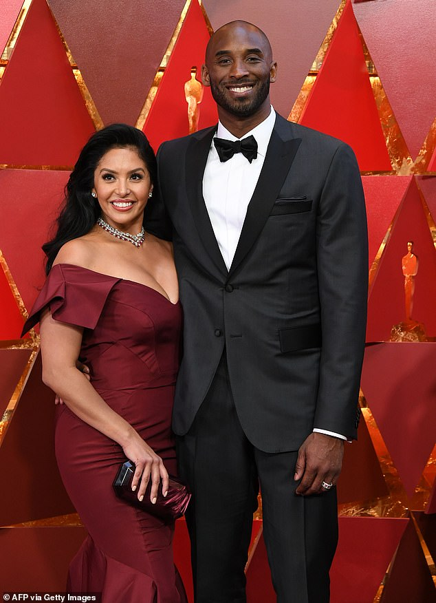 Kobe and Vanessa at the 90th Annual Academy Awards in Hollywood in 2018