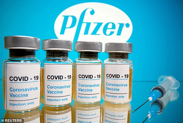 Pfizer Inc and its German partner BioNTech are studying a third dose of their coronavirus vaccine, which isaimed at protecting against variants (file image)