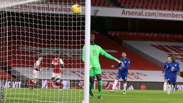 Bukayo Saka scored his third Premier League goal for Arsenal on his 40th appearance in the competition