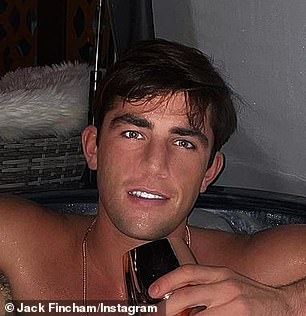 Mocked: The Love Island star, 29, described his fans as 'savage' after they were quick to notice that his face was so heavily edited that his nostrils all but disappeared in the edited post