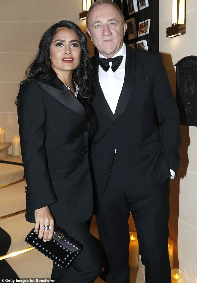 Dashing:She hunkered down amid the ongoing coronavirus pandemic with her French billionaire husband Francois-Henri Pinault