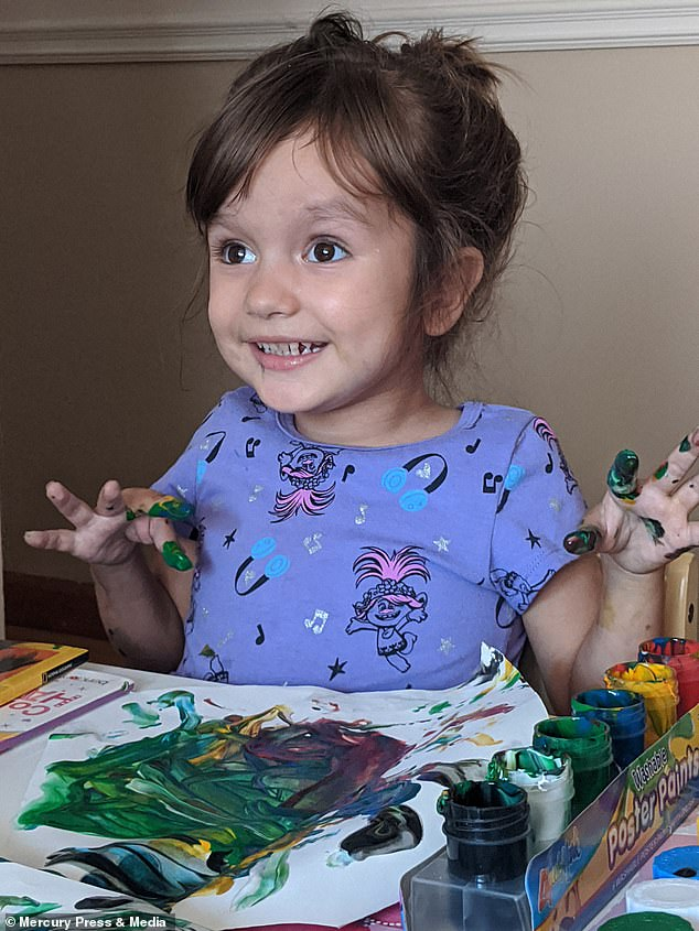 Now, against all the odds, Riley reached her first milestone when she began preschool last month