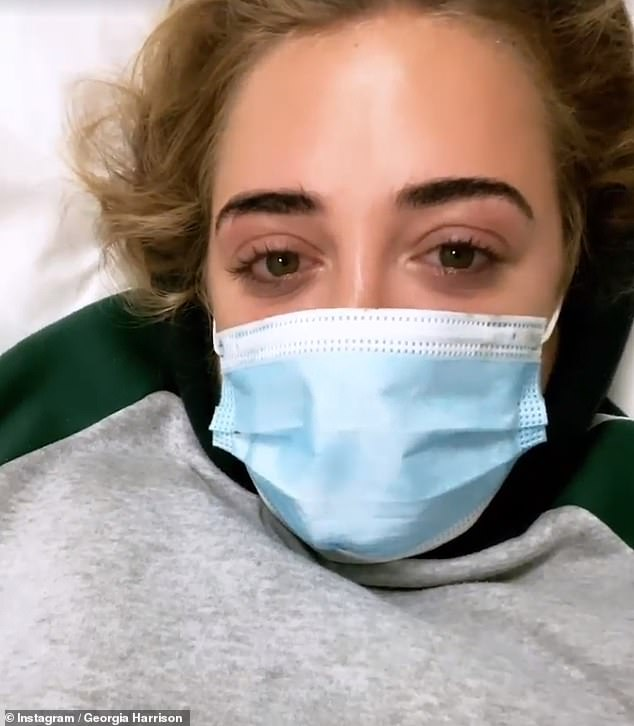 Health battle: Georgia revealed she's been hospitalised and placed on a drip during her trip to Dubai