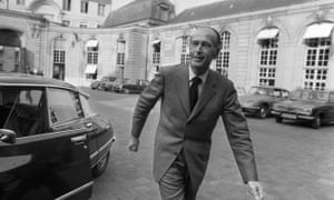 Valéry Giscard d'Estaing in April 1974 after announcing his resignation as finance minister so that he could stand for the presidency.