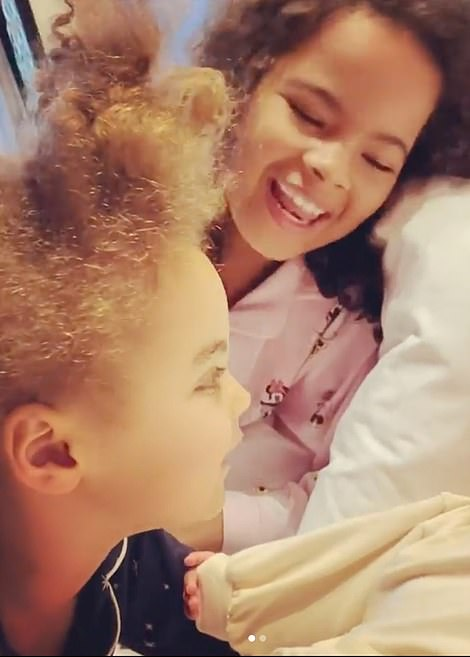 Adorable! Elsewhere, Rochelle shared an adorable clip of her three kids waking up on Christmas morning, as they enjoyed their first family Christmas following the birth of their newborn son Blake
