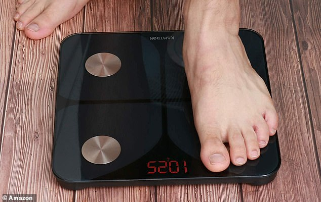 All you need to do is step on the scales barefoot and the electrodes positioned under each foot transmit a harmless, low-level electrical current through your body