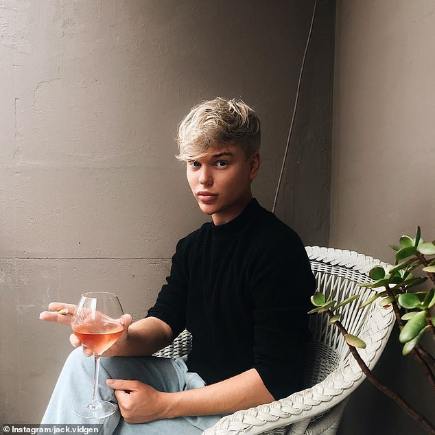 Hearts racing:Jack Vidgen (pictured) got his followers excited on Monday