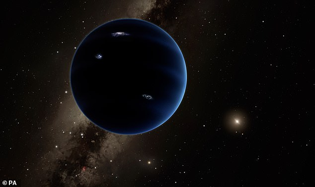 Planet Nine, a planet with 10 times the mass of Earth located beyond dwarf planet Pluto, is the Holy Grail among many astronomers. Pictured, artist's impression of the hypothesised planet