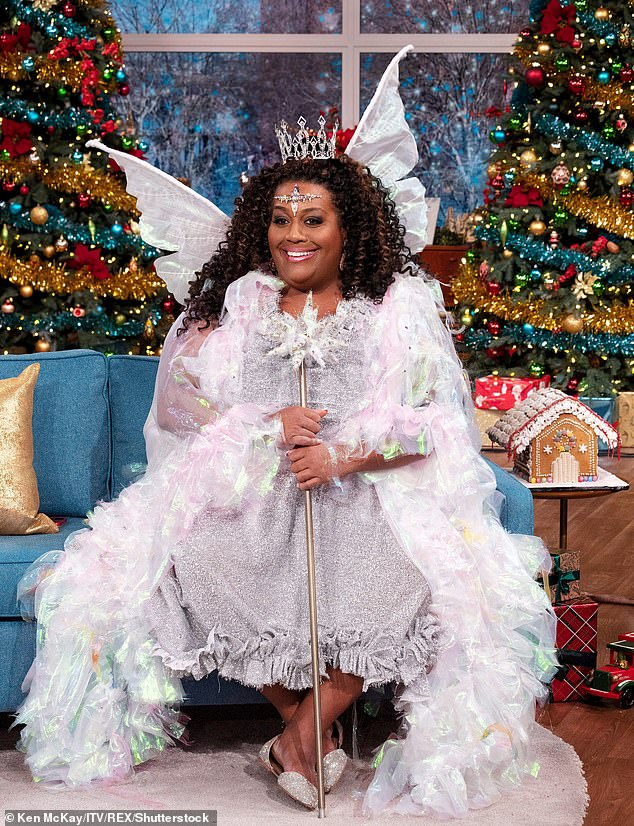Magical: Alison starred in This Morning's Christmas pantomime as the Fairy Godmother