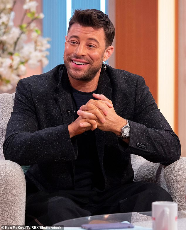 Planning:Singer Duncan James (pictured last year), 42, revealed he and Antony Costa, Lee Ryan and Simon Webbe are planning something but lockdown made it difficult to get together