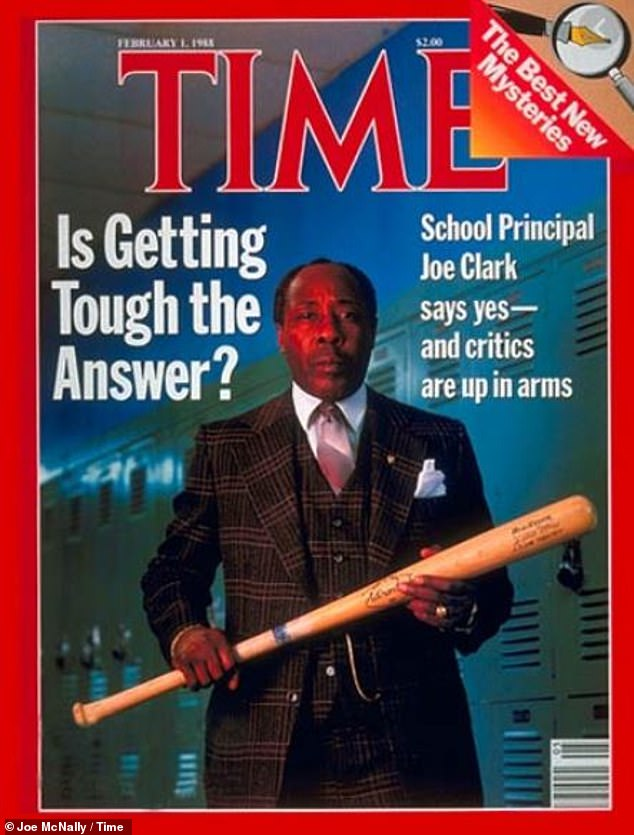 Time cover: Clark was on the cover of Time magazine in 1988 over his controversial tactics