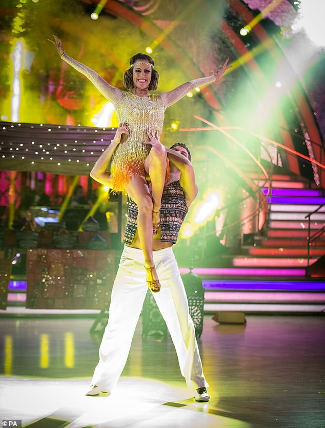 Amazing performance: Caroline's Charleston was also remembered on the show, and the 'iconic' dance came in fifth place