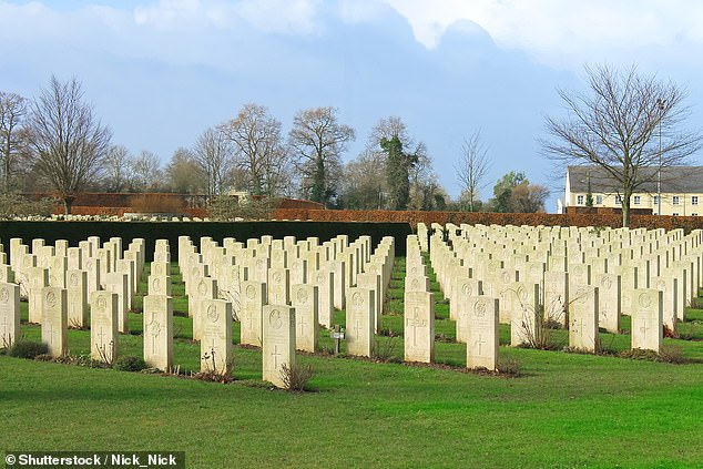 The Commonwealth War Graves Commission emailed 32 staff, some of whom have looked after the war graves for over 35 years, to tell them about the cost-cutting measures. Pictured:Bayeux War Cemetery in Normandy, France