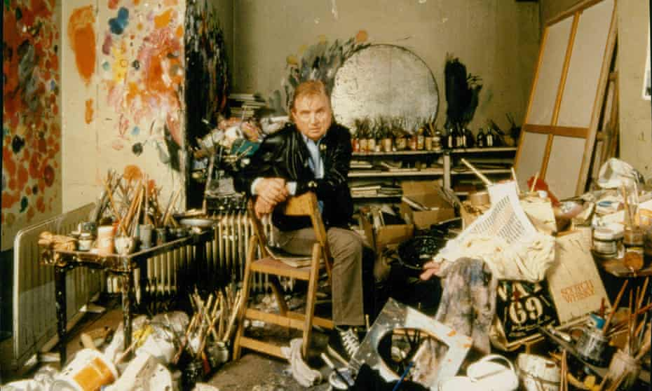 Bacon in his studio.
