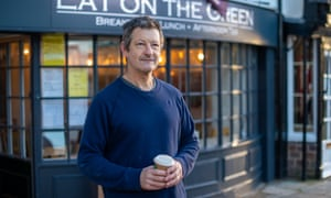 Ben Mangan, the owner of Eat on the Green in Exeter
