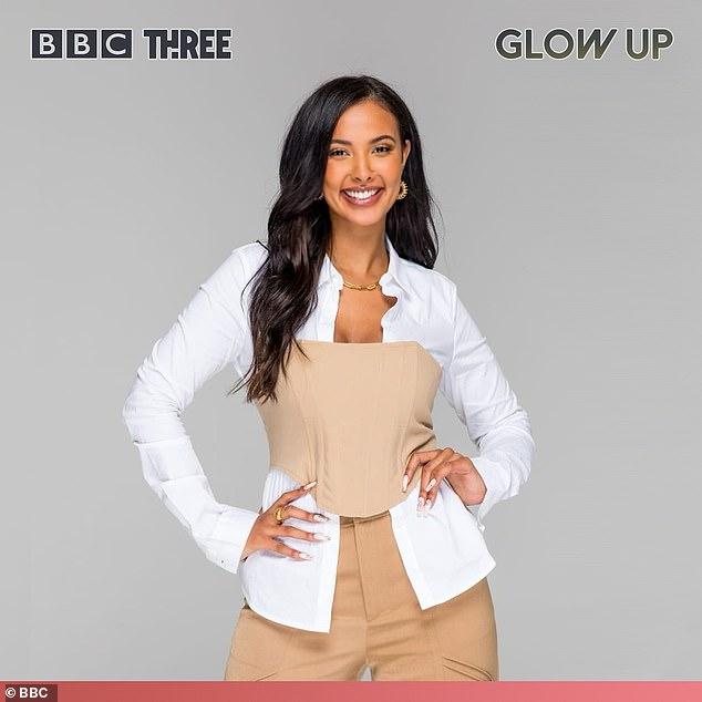 Replacement: Maya Jama is the new host of BBC Three's Glow Up: Britain's Next Make Up Star