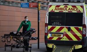 Outside the the Royal London hospital on Tuesday.
