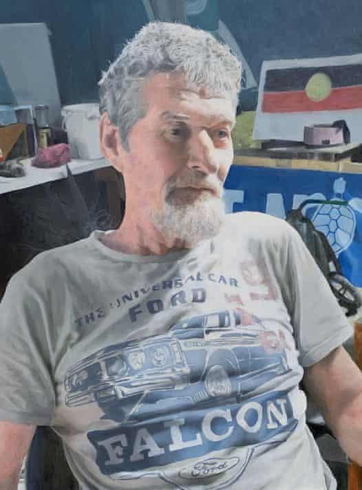 Portrait of Chris Hooper by oil painter Huon Kane