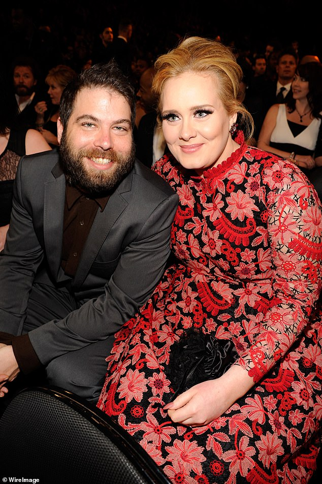 Almost over: Adele, 32, has reached a divorce settlement with her charity CEO husband Simon Konecki, 46, two years after their separation (pictured in 2013)