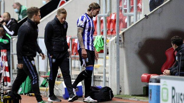 Aden Flint limped off at Rotherham in October, just 12 days after joining Sheffield Wednesday
