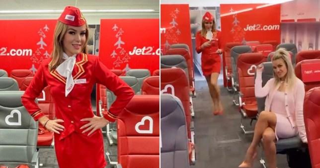 Amanda Holden as air hostess