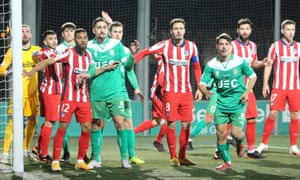 Cornellà in action during their 1-0 home victory over Atlético Madrid.