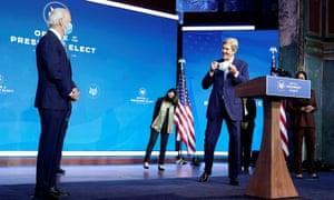 Joe Biden introducing John Kerry as his special envoy for the climate crisis back in November.