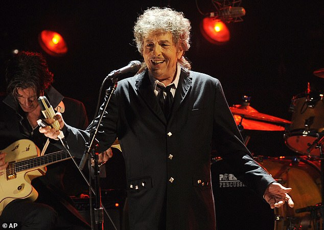 Taking him to court: Bob Dylan (above 2012) and Universal Music Group are being sued by the widow of songwriter Jacques Levy, who collaborated with the Like A Rolling Stone artist on his 1976 album Desire