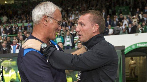 Brendan Rodgers is attempting to replicate Claudio Ranieri's feat of guiding Leicester to the Premier League title
